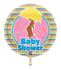 Baby shower folie ballon 43 cm