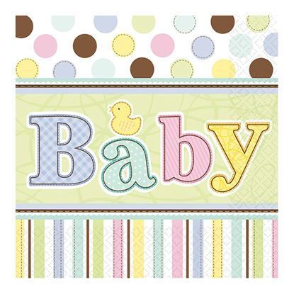 Baby shower servetten 18 stuks
